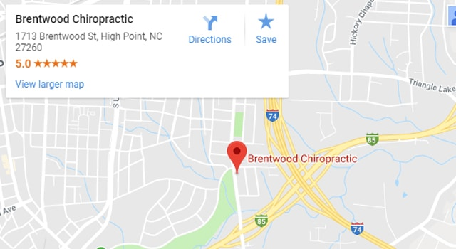 Map of High Point Chiropractors